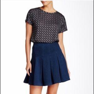 NWT Diane Von Furstenburg Denim A-Line Skirt